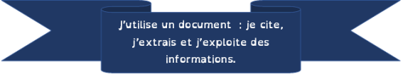 J'utilise un document